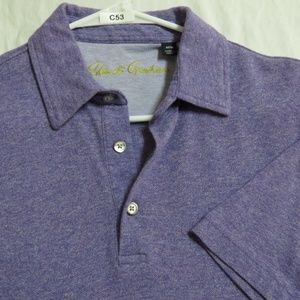 Sz S Purple Robert Graham Cotton #C53 Polo Shirt